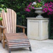 Jardín, tumbona y Copa piedra