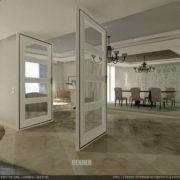 Proyecto, rénder del salón