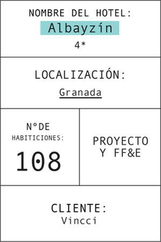 Ficha del hotel Vincci Albaizín granada