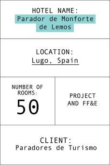 Index card parador de Monforte de Lemos