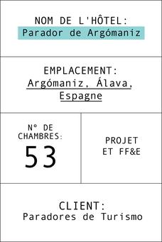 Fiche Parador de Argómaniz en français
