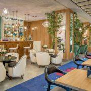 Lounge cafetería del hotel
