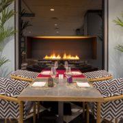 Restaurante, chimenea