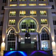 fachada de la torre en la perla doha quatar