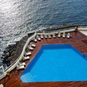 Vista aérea de la piscina