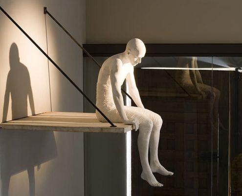 Detalle del Hall, escultura