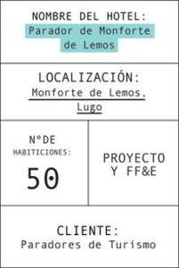 Ficha del parador de Monforte de Lemos