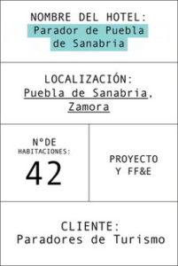 ficha del parador de Puebla de Sanabria