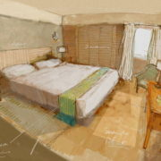 Proyecto, dibujo de habitación