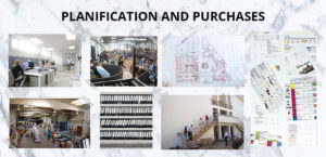 first stage of contract. Planification, bidding and purchases