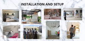 third stage of contract, Intallation and setup
