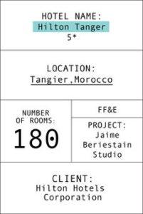 Fichas del hotel Hilton Tánger en inglés