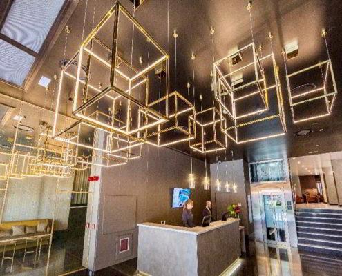Recepción-lobby del hotel Catalonia Granada